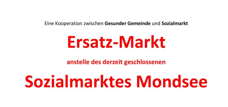 Information über Kooperation der Gesunden Gemeinde und des Sozialmarktes Mondsee